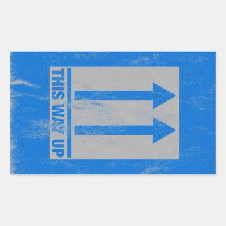Esta manera encima de la muestra pegatina rectangular