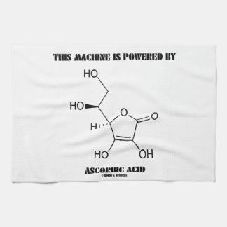 Esta máquina es accionada por el ácido ascórbico ( toalla de mano
