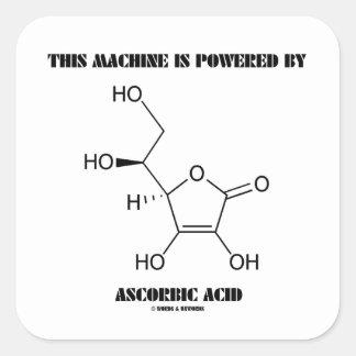 Esta máquina es accionada por el ácido ascórbico pegatina cuadradas