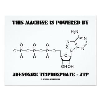 """Esta máquina es accionada por el trifosfato de invitación 4.25"""" x 5.5"""""""
