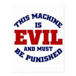 Esta máquina es malvada postal