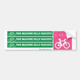 Esta máquina mata a fascistas pegatina para auto