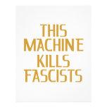 Esta máquina mata a fascistas membrete a diseño