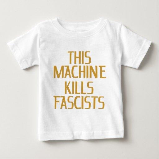 Esta máquina mata a fascistas playera de bebé