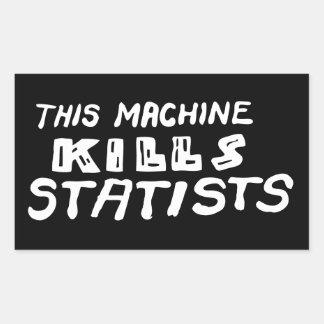Esta máquina mata a Statists Rectangular Pegatina