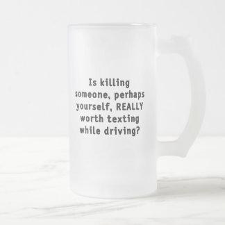 ¿Está matando alguien, quizás usted mismo, Taza De Cristal