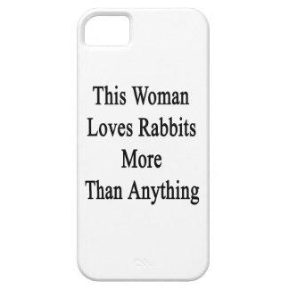 Esta mujer ama conejos más que cualquier cosa iPhone 5 carcasas
