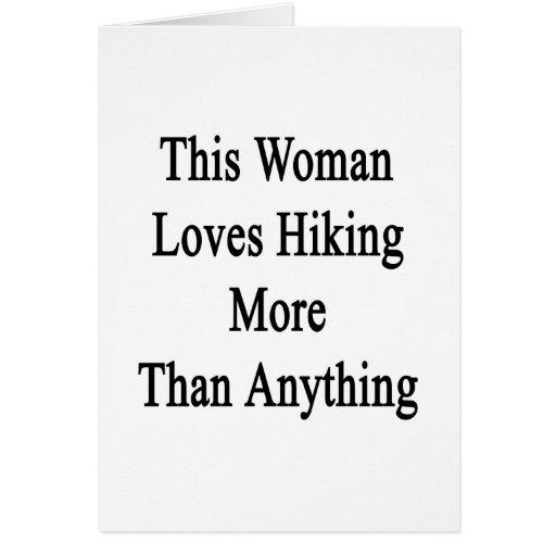 Esta mujer ama el caminar más que cualquier cosa tarjetón