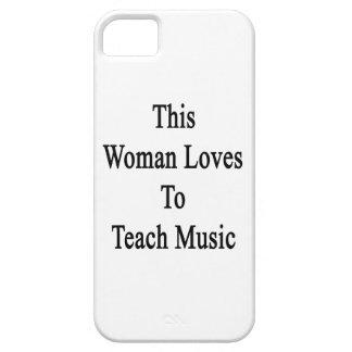 Esta mujer ama enseñar a música iPhone 5 Case-Mate cobertura