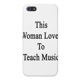 Esta mujer ama enseñar a música iPhone 5 cárcasa