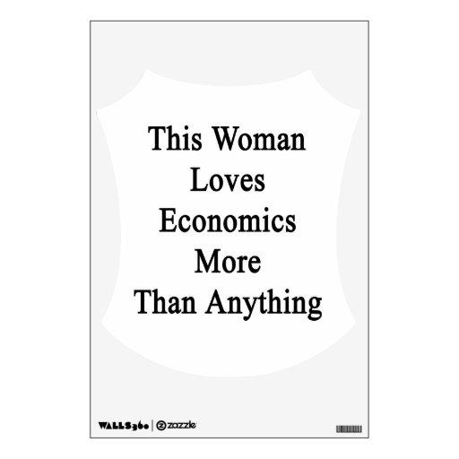 Esta mujer ama la economía más que cualquier cosa