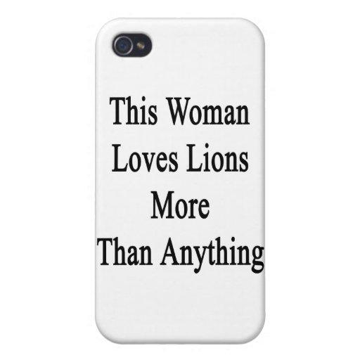 Esta mujer ama leones más que cualquier cosa iPhone 4 funda