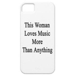 Esta mujer ama música más que cualquier cosa iPhone 5 carcasa