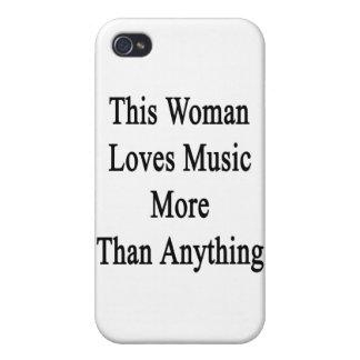 Esta mujer ama música más que cualquier cosa iPhone 4 carcasa
