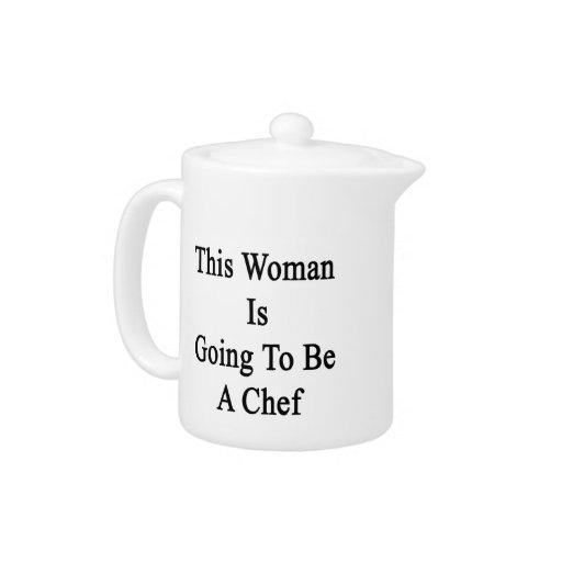 Esta mujer va a ser cocinero