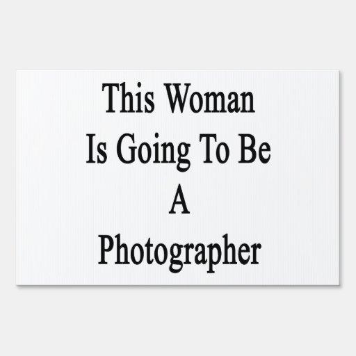 Esta mujer va a ser fotógrafo cartel