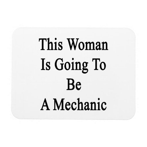 Esta mujer va a ser mecánico imanes de vinilo