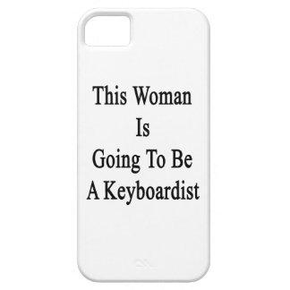 Esta mujer va a ser teclista iPhone 5 cárcasas
