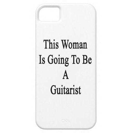 Esta mujer va a ser un guitarrista iPhone 5 Case-Mate carcasas