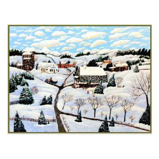 Está nevando postales