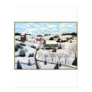 Está nevando postal