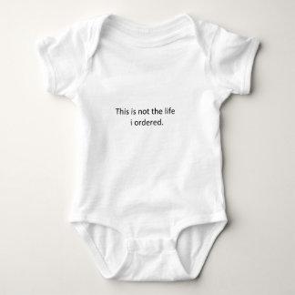 Ésta no es la vida que pedí body para bebé