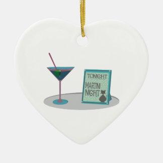 Esta noche noche de Martini Adorno De Cerámica En Forma De Corazón