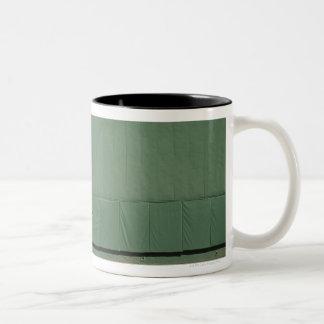 Esta pared se conoce como 'el monstruo verde. taza de dos tonos