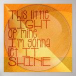 Esta pequeña luz los míos inspirados posters