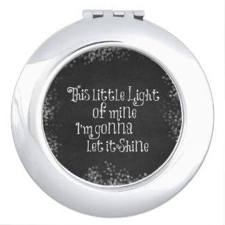 Esta pequeña luz los míos que van a dejarla espejos para el bolso