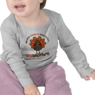 Esta pequeña Turquía que va a ser un hermano mayor Camisetas