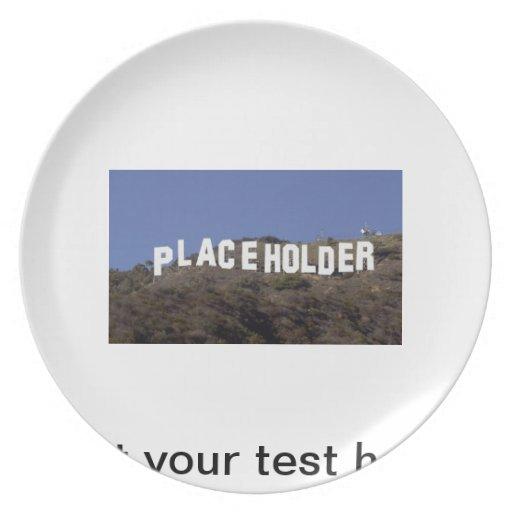 esta placa podía ser la suya plato de comida