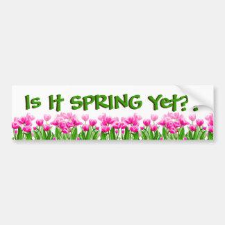 Está primavera con todo pegatina para el parachoqu etiqueta de parachoque