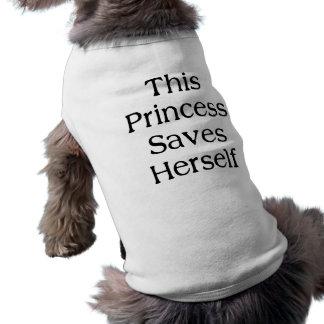 Esta princesa Saves Playera Sin Mangas Para Perro