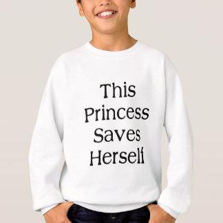 Esta princesa Saves Sudadera