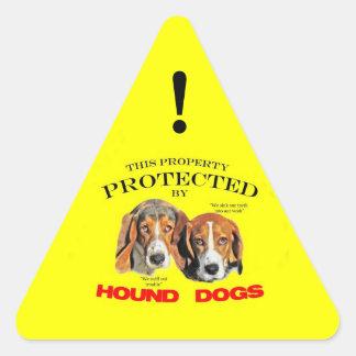 Esta propiedad protegida por los perros de caza pegatina triangular