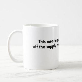 Esta reunión está de la cadena de suministro taza
