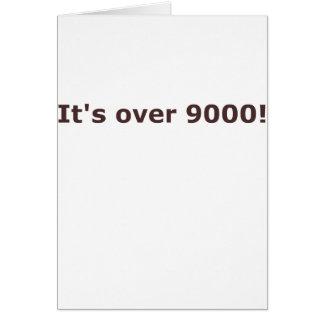 ¡Está sobre 9000! Tarjetón