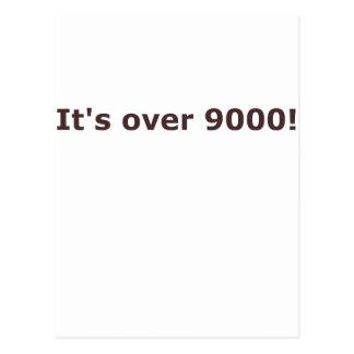 ¡Está sobre 9000! Tarjeta Postal