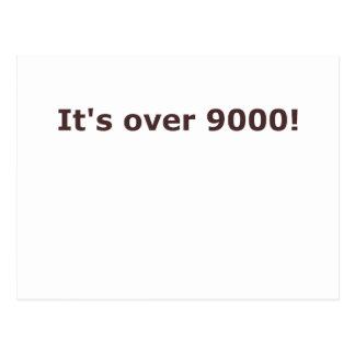 ¡Está sobre 9000! Postales