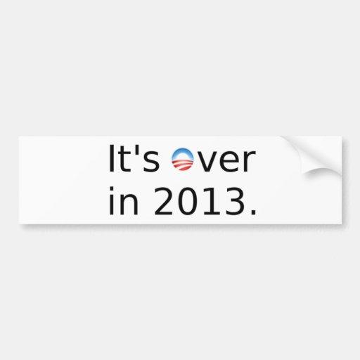 Está sobre en 2013 Anti-Obama Pegatina Para Auto