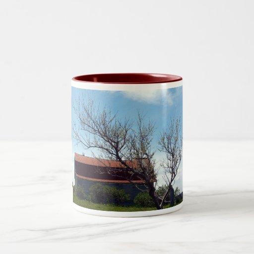Esta taza vieja del granero