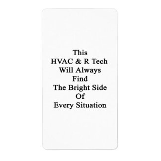 Esta tecnología de la HVAC R encontrará siempre a Etiqueta De Envío