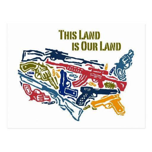 """""""Esta tierra es nuestra tierra"""" los E.E.U.U. de Postales"""