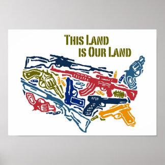 """""""Esta tierra es nuestra tierra"""" los E.E.U.U. dispa Póster"""