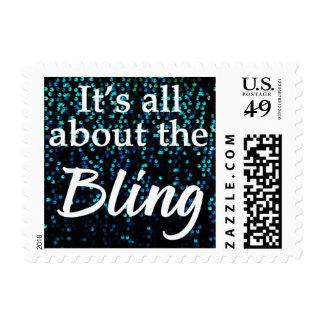 Está todo sobre el Bling, sellos azules de USPS