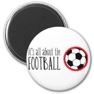 Está todo sobre el fútbol imán redondo 5 cm