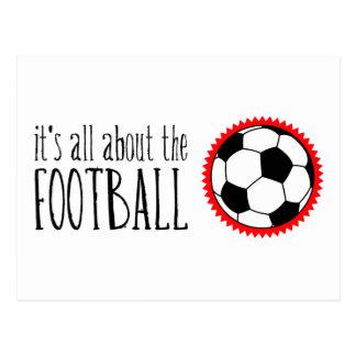 Está todo sobre el fútbol postales