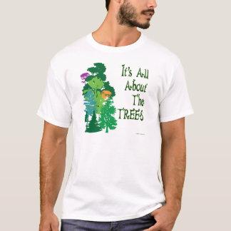 Está todo sobre el lema verde de los árboles playera