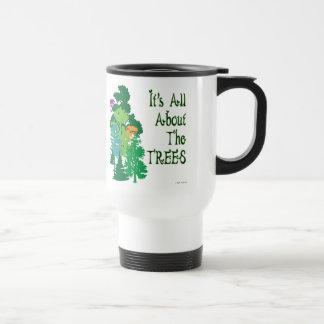 Está todo sobre el lema verde de los árboles taza térmica